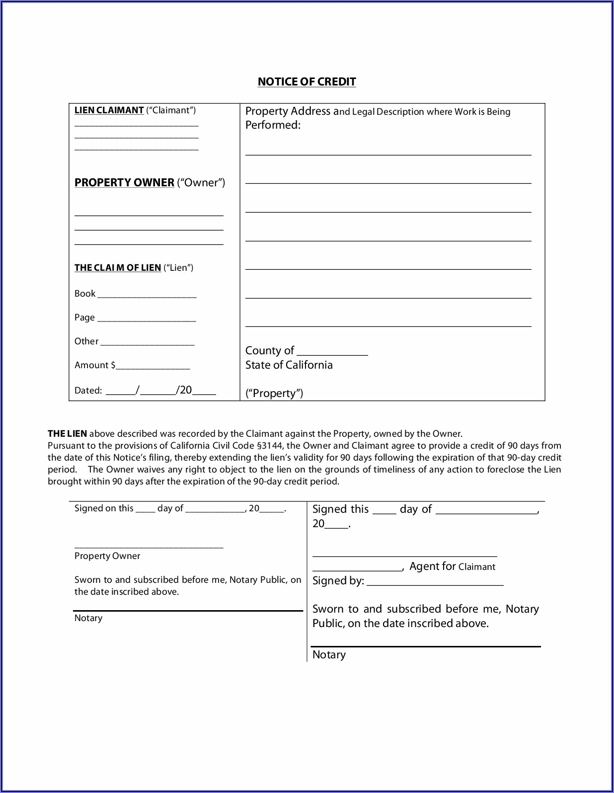 California Mechanics Lien Form 2019 Pdf