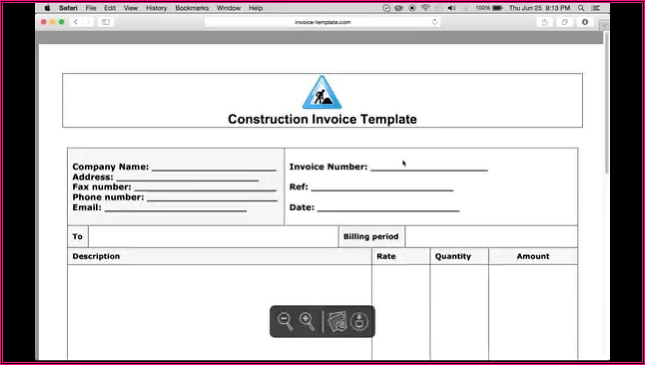 Carpentry Invoice Examples