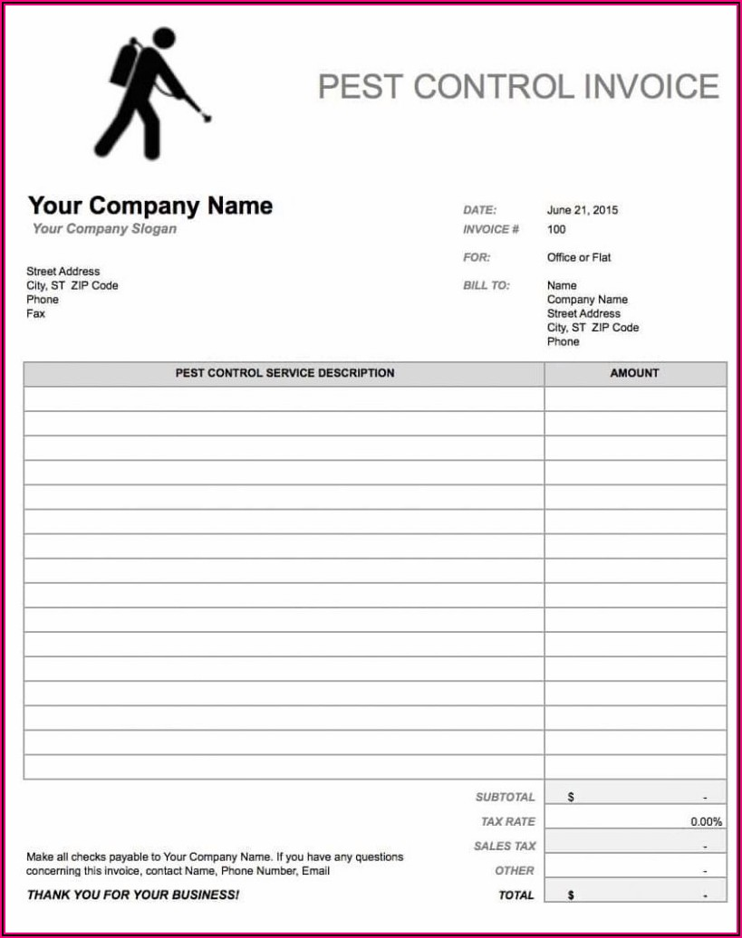 Carpentry Invoice Template Free