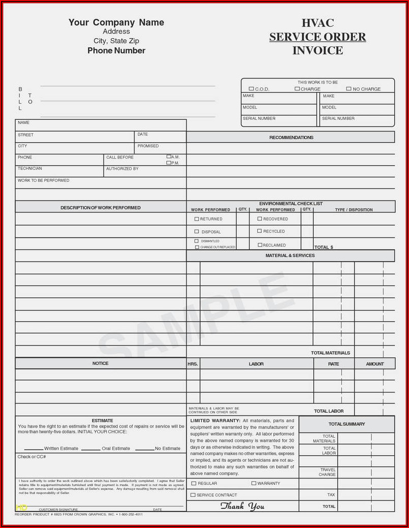 Cell Phone Repair Form Template