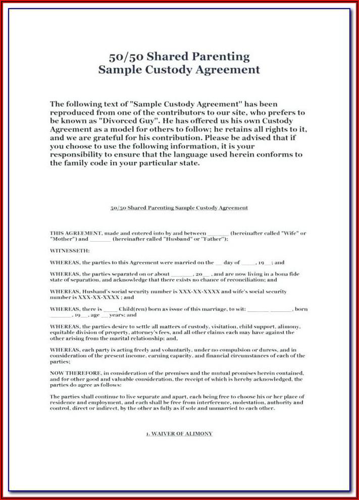 Character Affidavit For Child Custody Template