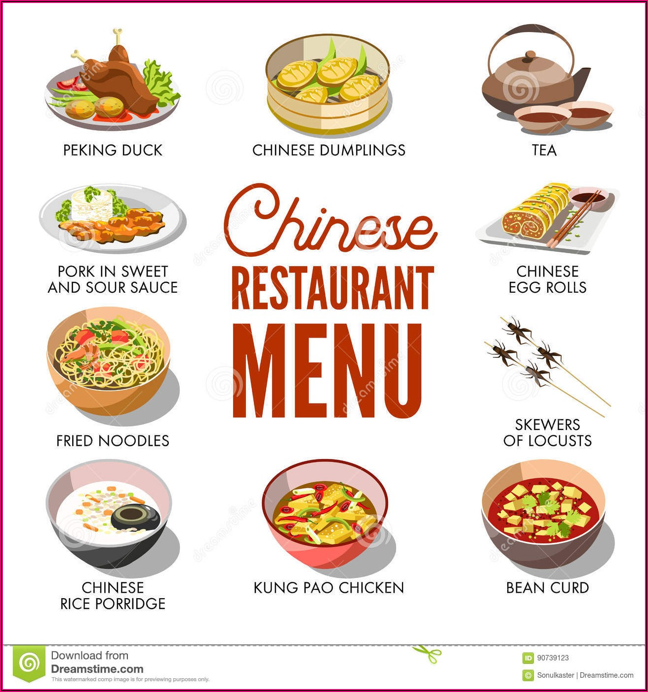 Chinese Takeaway Menu Template Free