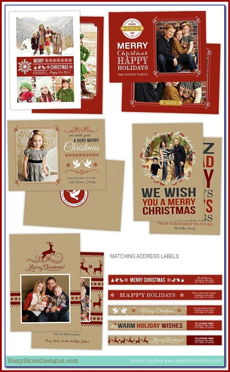Christmas Card Templates Insert Faces