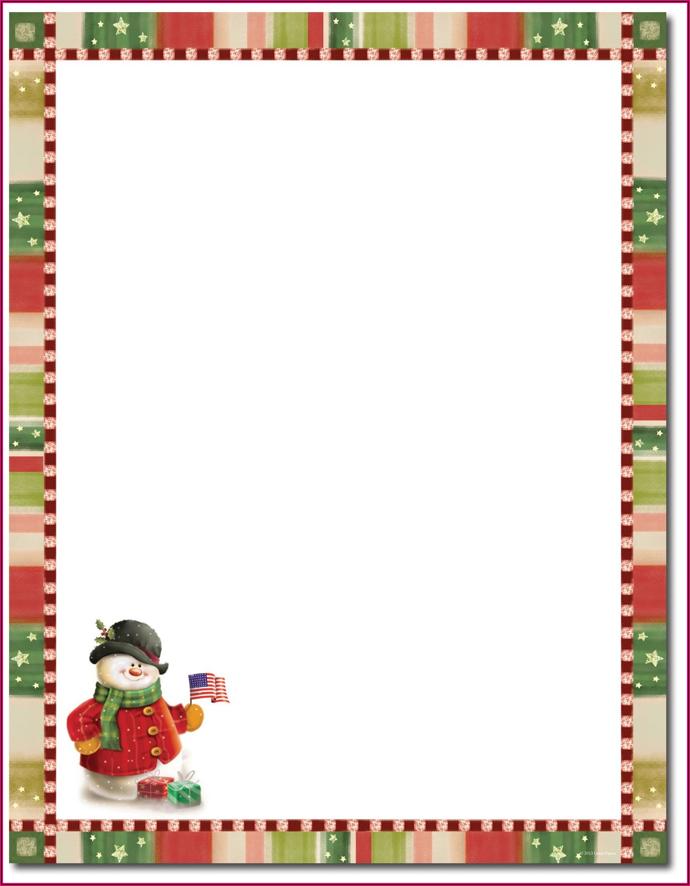 Christmas Stationery Templates Word Free