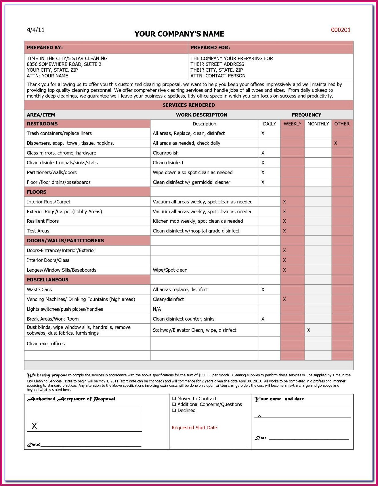 Commercial Cleaning Template