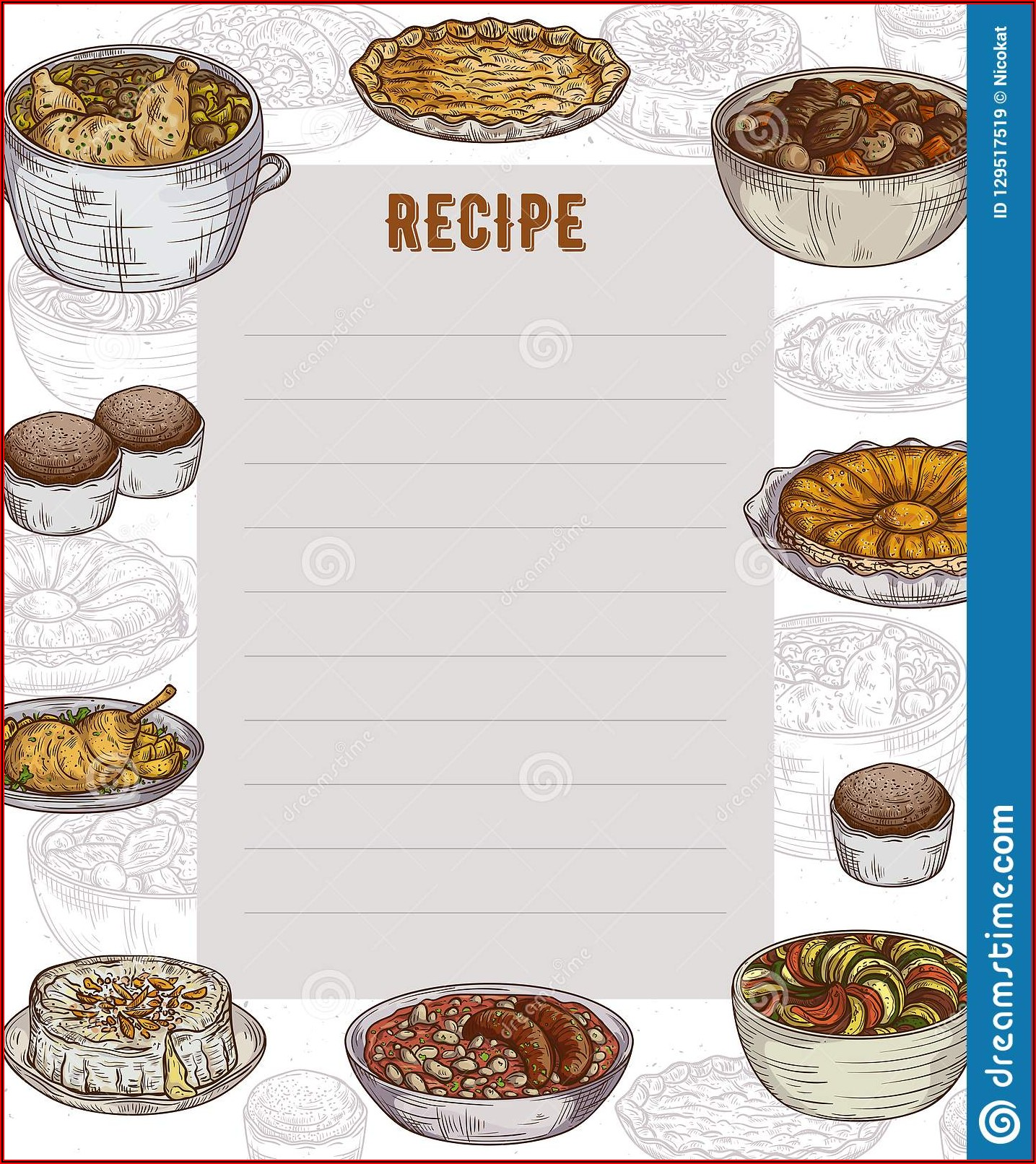 Cookbook Design Template