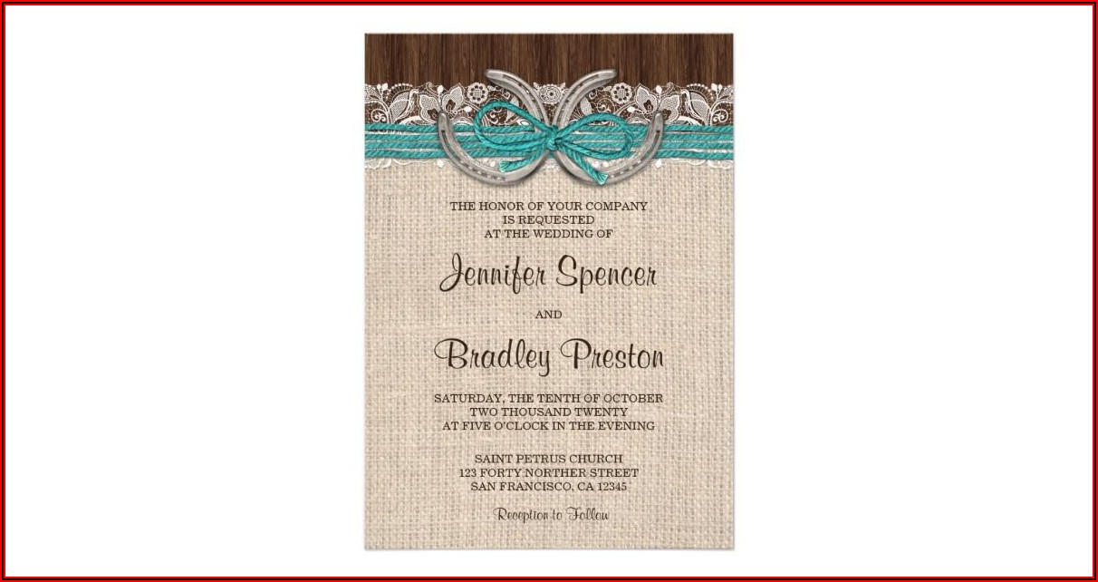 Country Western Wedding Invitation Templates