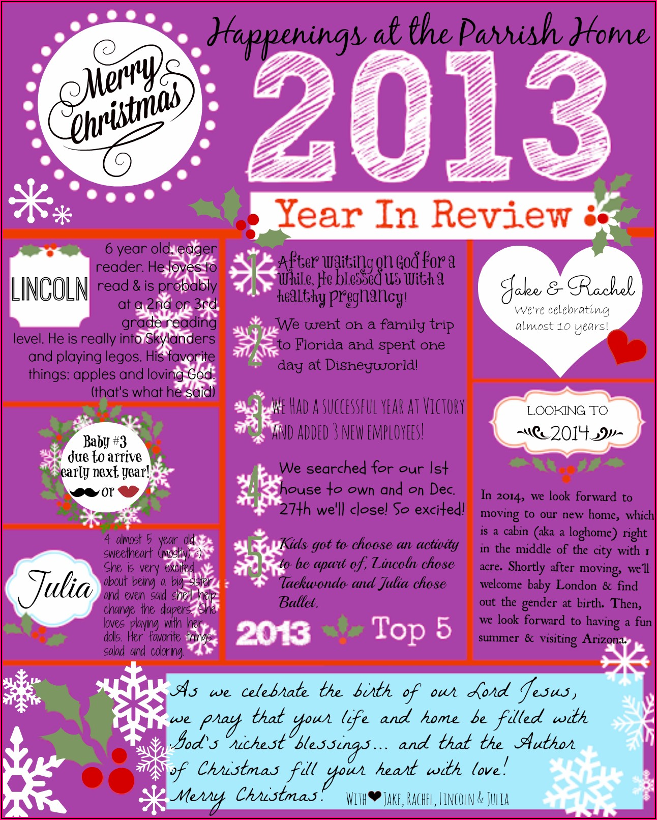Creative Christmas Letters Templates