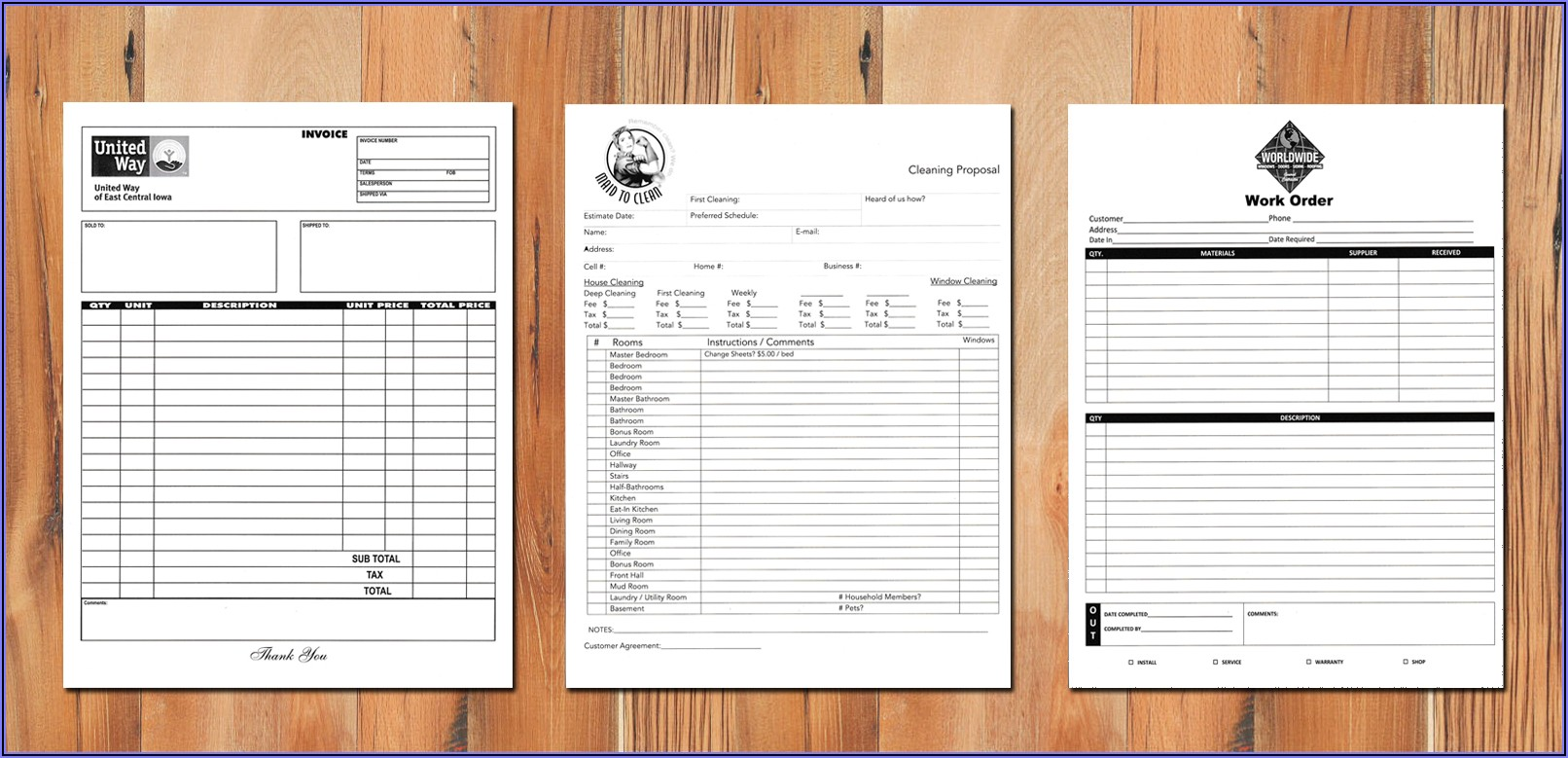 Customizable Carbonless Forms