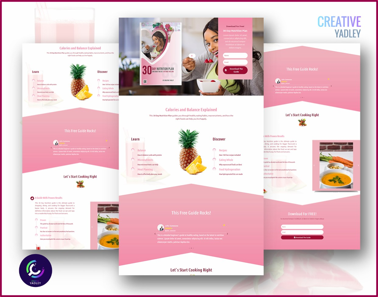 Dietitian Website Templates