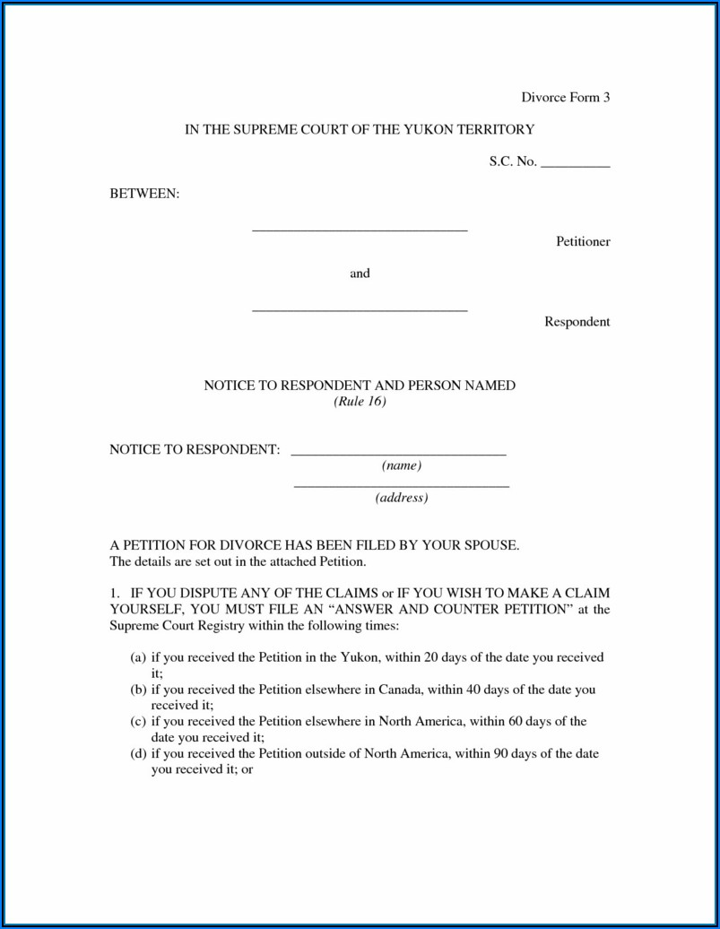 Divorce Forms Illinois Free