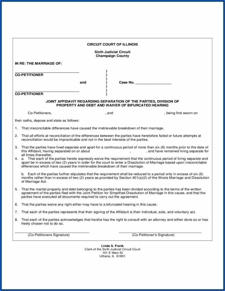 Divorce Paperwork In Illinois