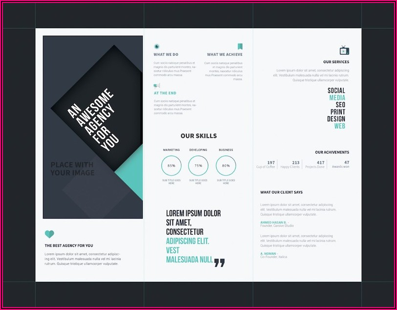 Downloadable Tri Fold Brochure Templates
