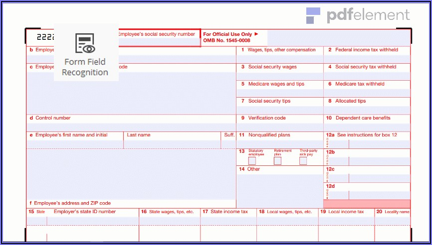 Downloadable W2 Form