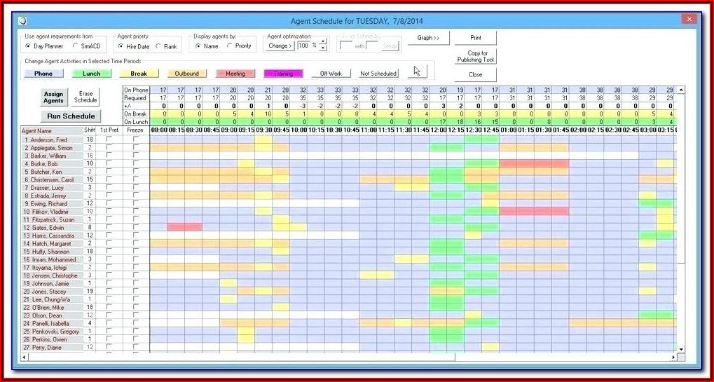 Employee Daily Planner Template