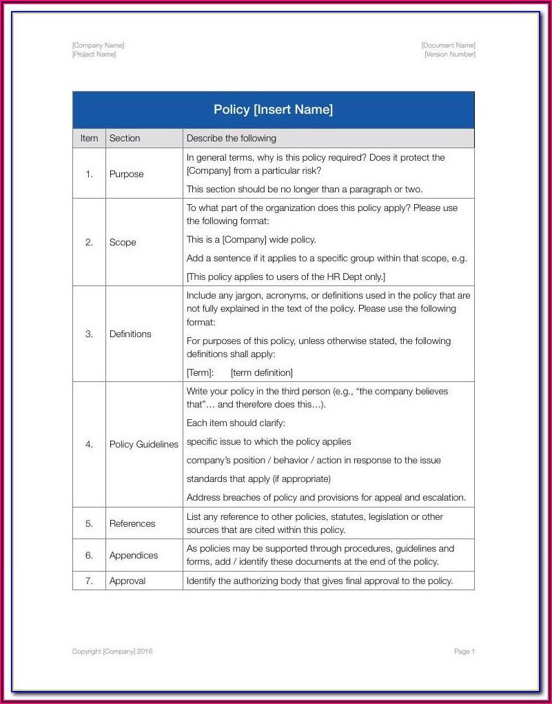 Employee Handbook Template Uk 2020