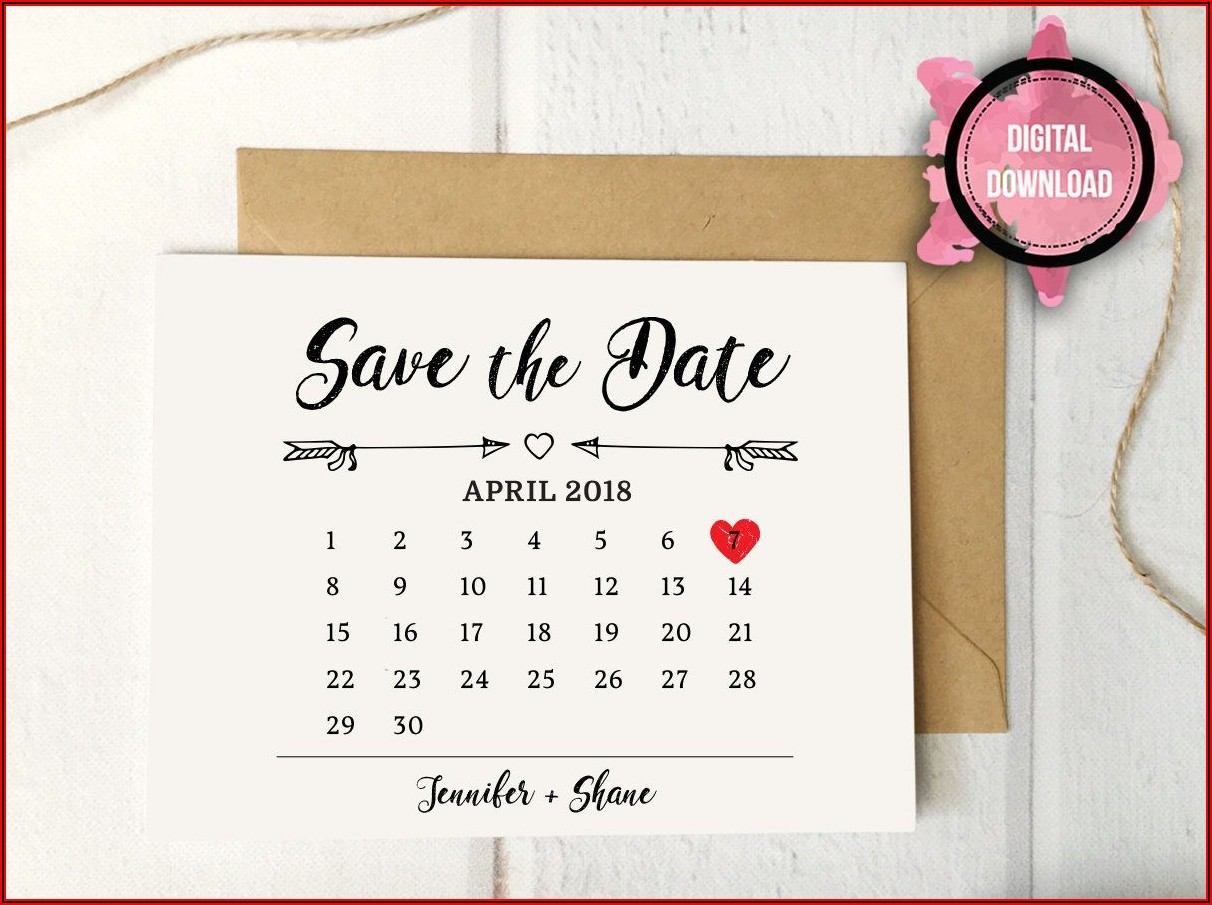 Etsy Save The Date Template