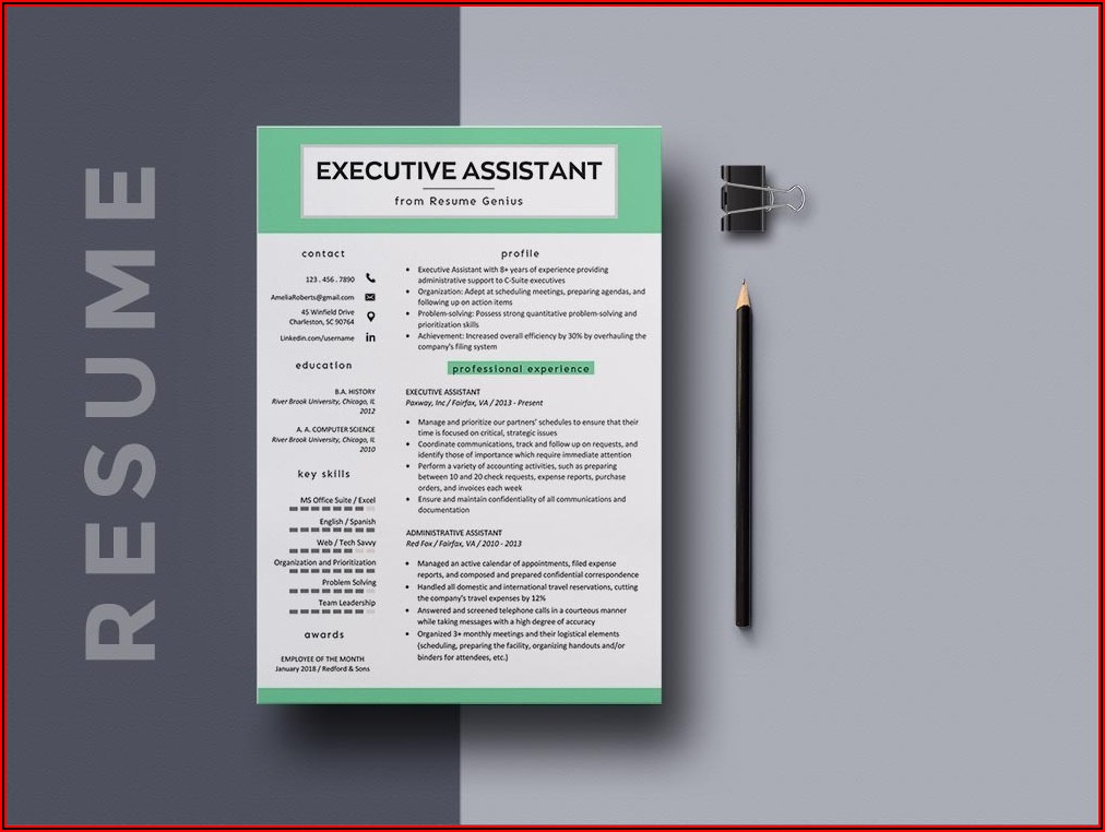 Executive Assistant Resume Template Free