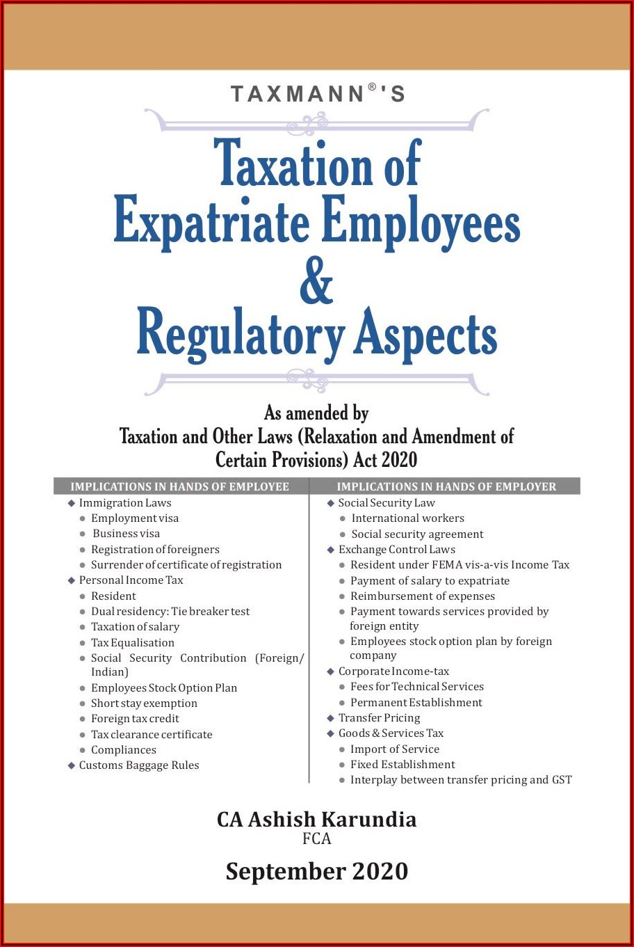 Expatriate Contract Of Employment Template India