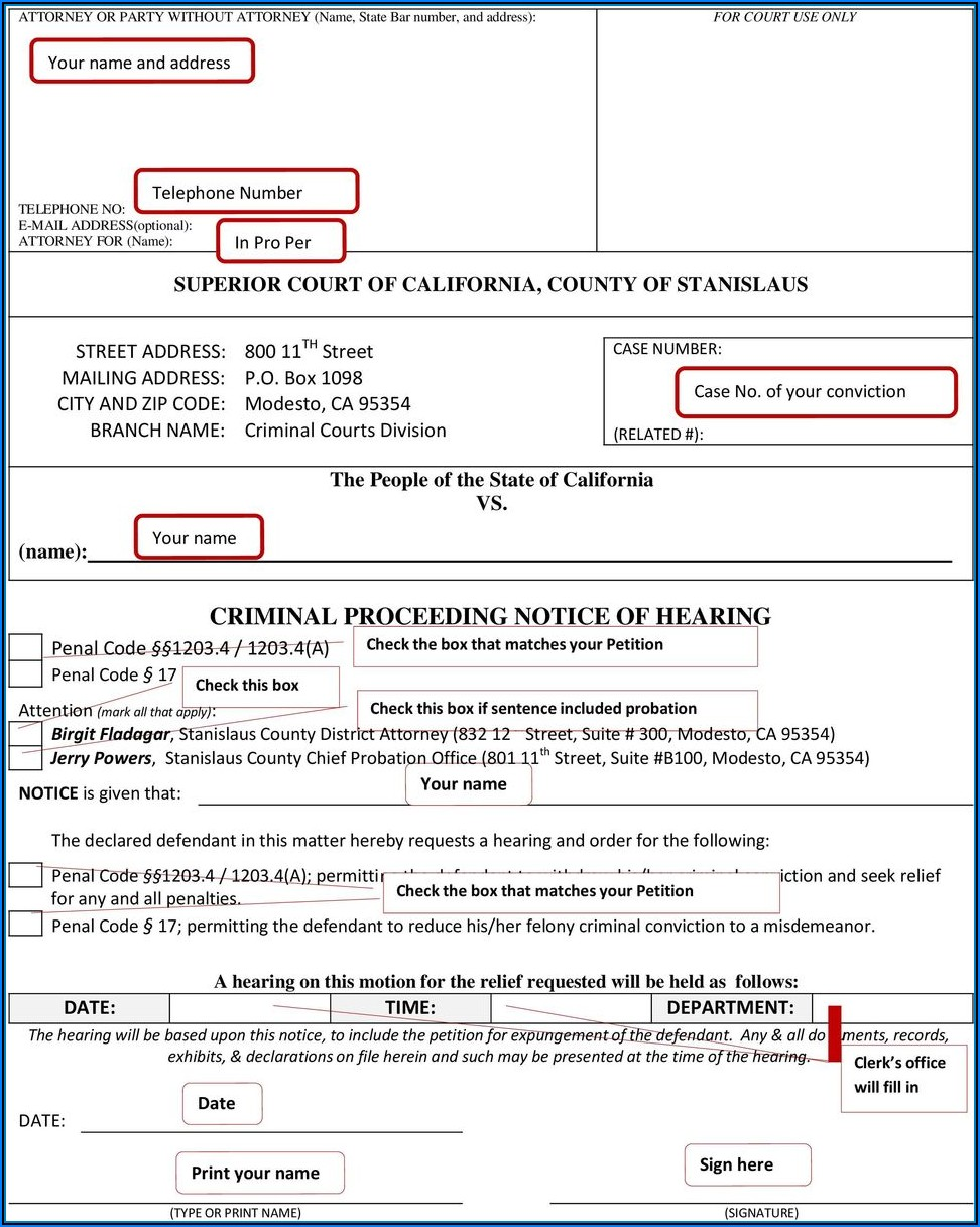 Expungement Petition California