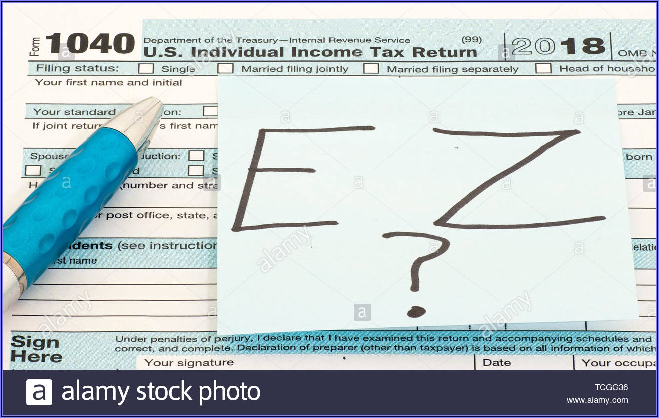 Ez 1040 Tax Form