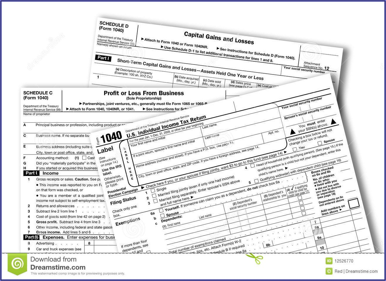 Federal Tax Forms 1040a