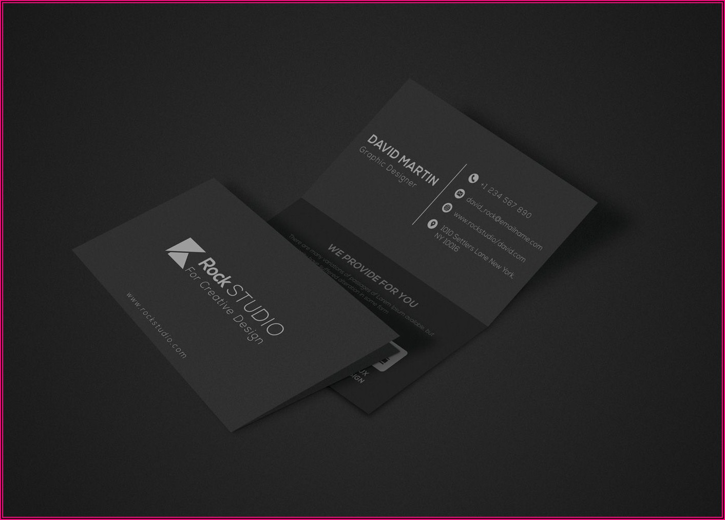 Folded Business Card Template Photoshop