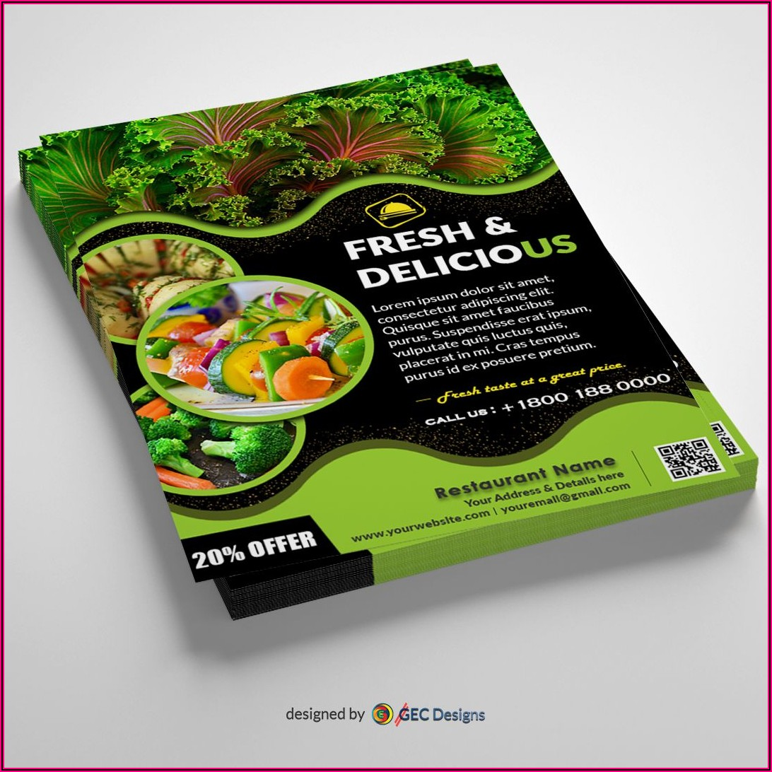Food Flyer Design Templates Free Download