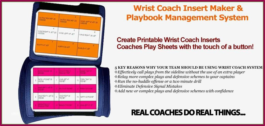 Football Wrist Coach Template