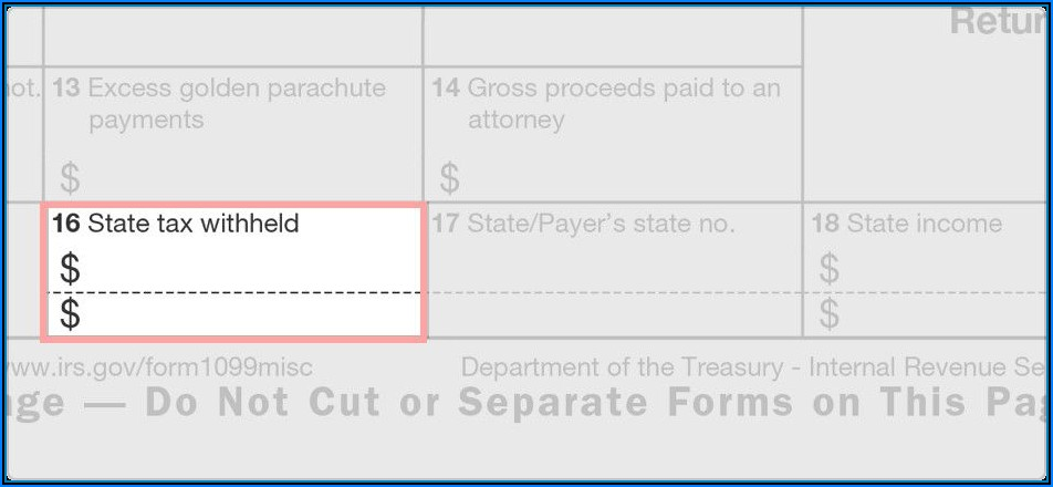 Form 1099 Fillable Free