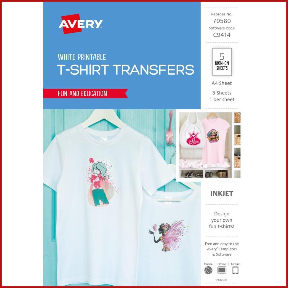Free Avery T Shirt Transfer Templates