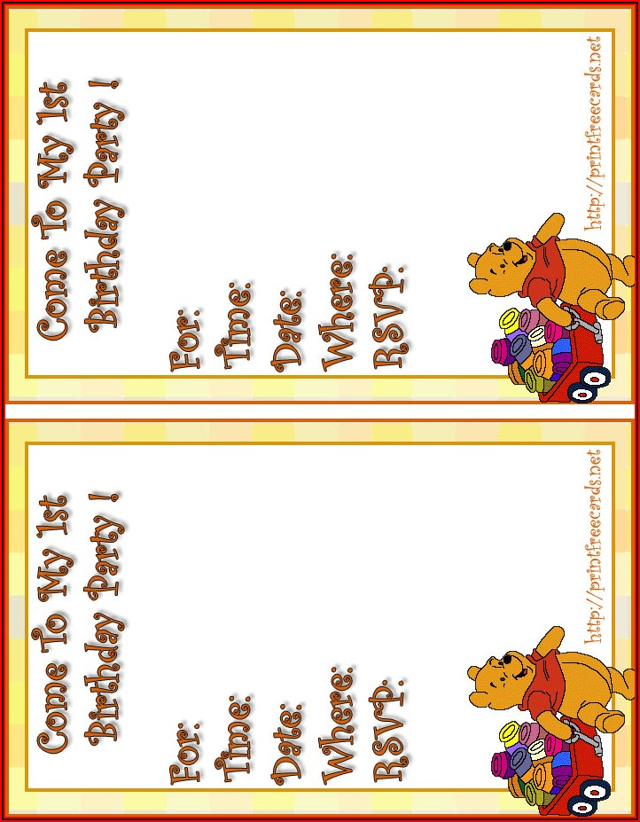 Free Birthday Invitation Postcard Templates