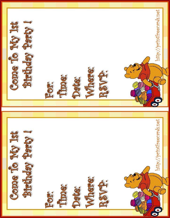 Free Birthday Invitation Postcard Templates