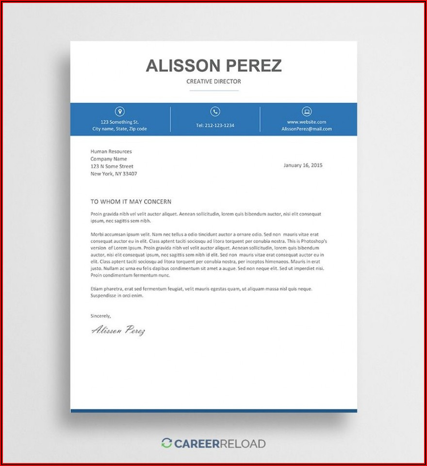 Free Cover Letter Template Word Doc Download