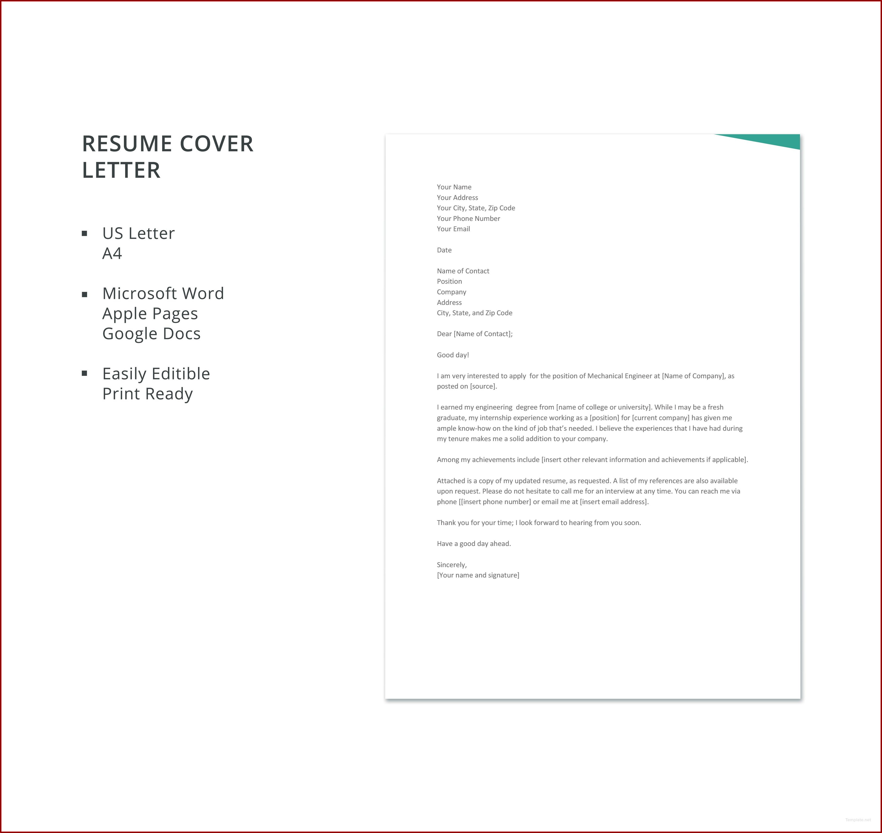 Free Cover Letter Template Word Doc