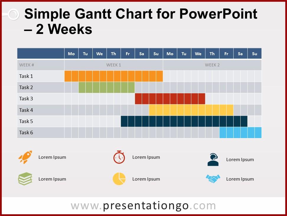 Free Gantt Chart Powerpoint 2010 Template