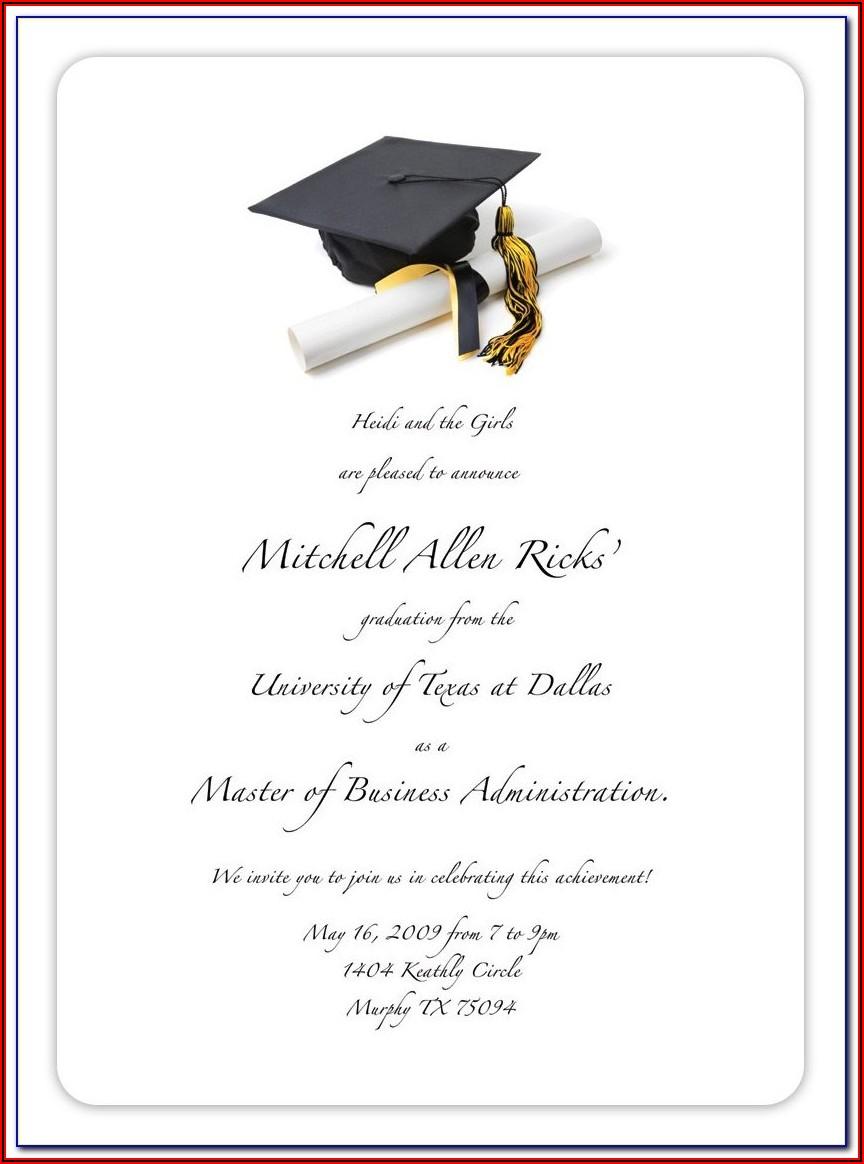 Free Graduation Invitation Templates For Photoshop