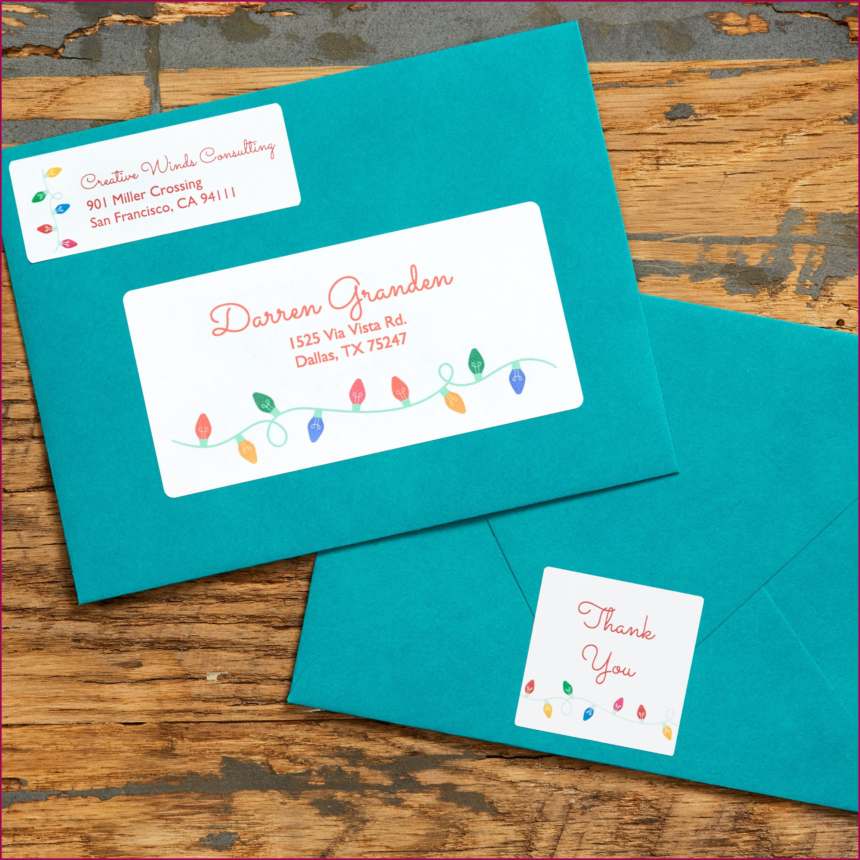 Free Holiday Mailing Label Templates