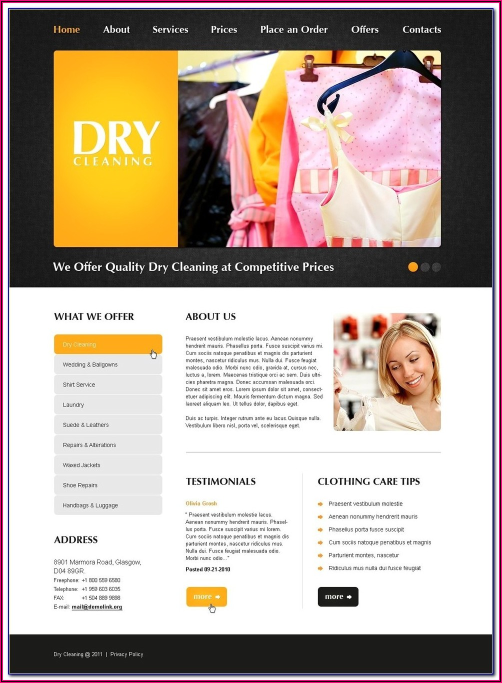 Free Informational Website Templates