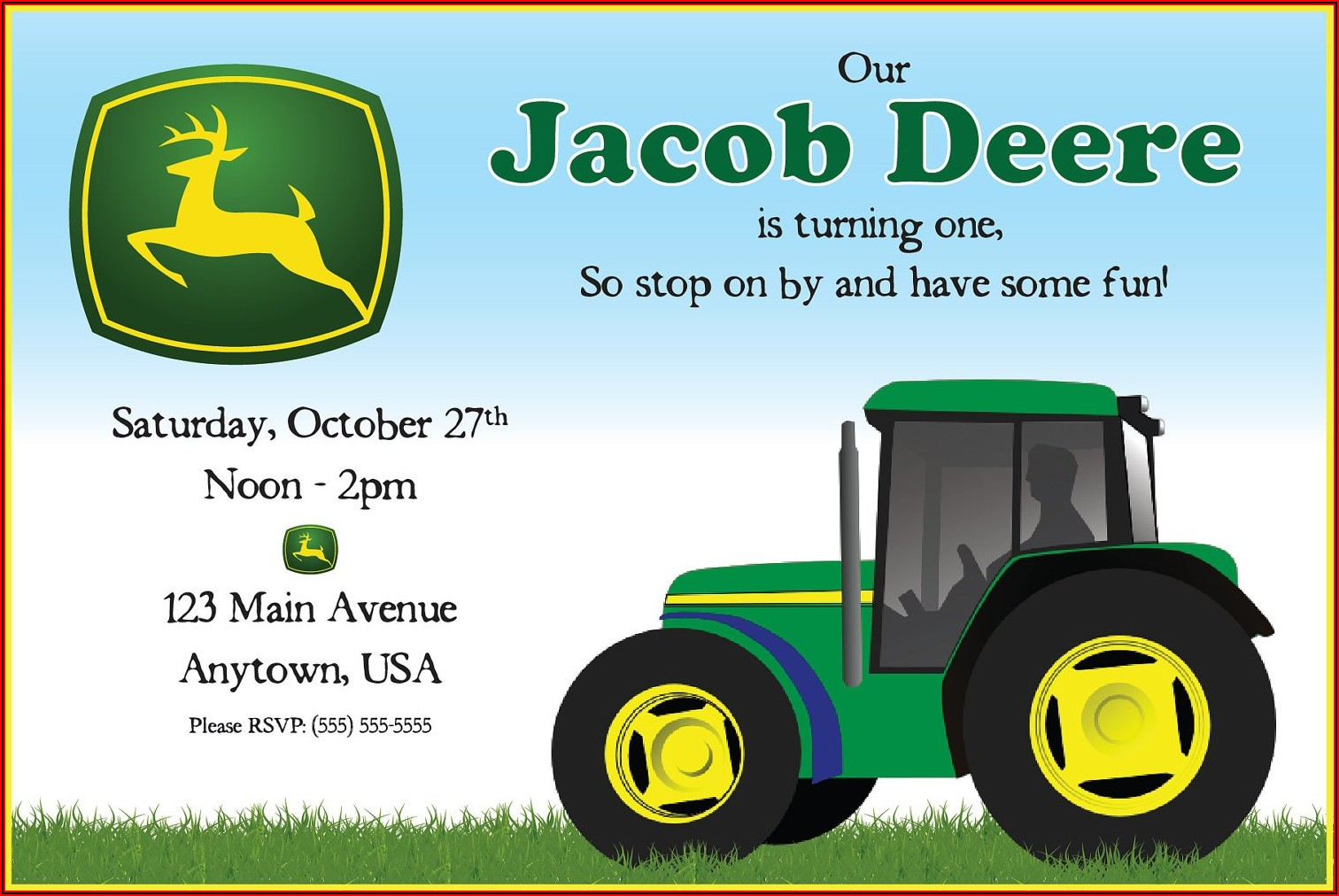Free John Deere Invitation Template