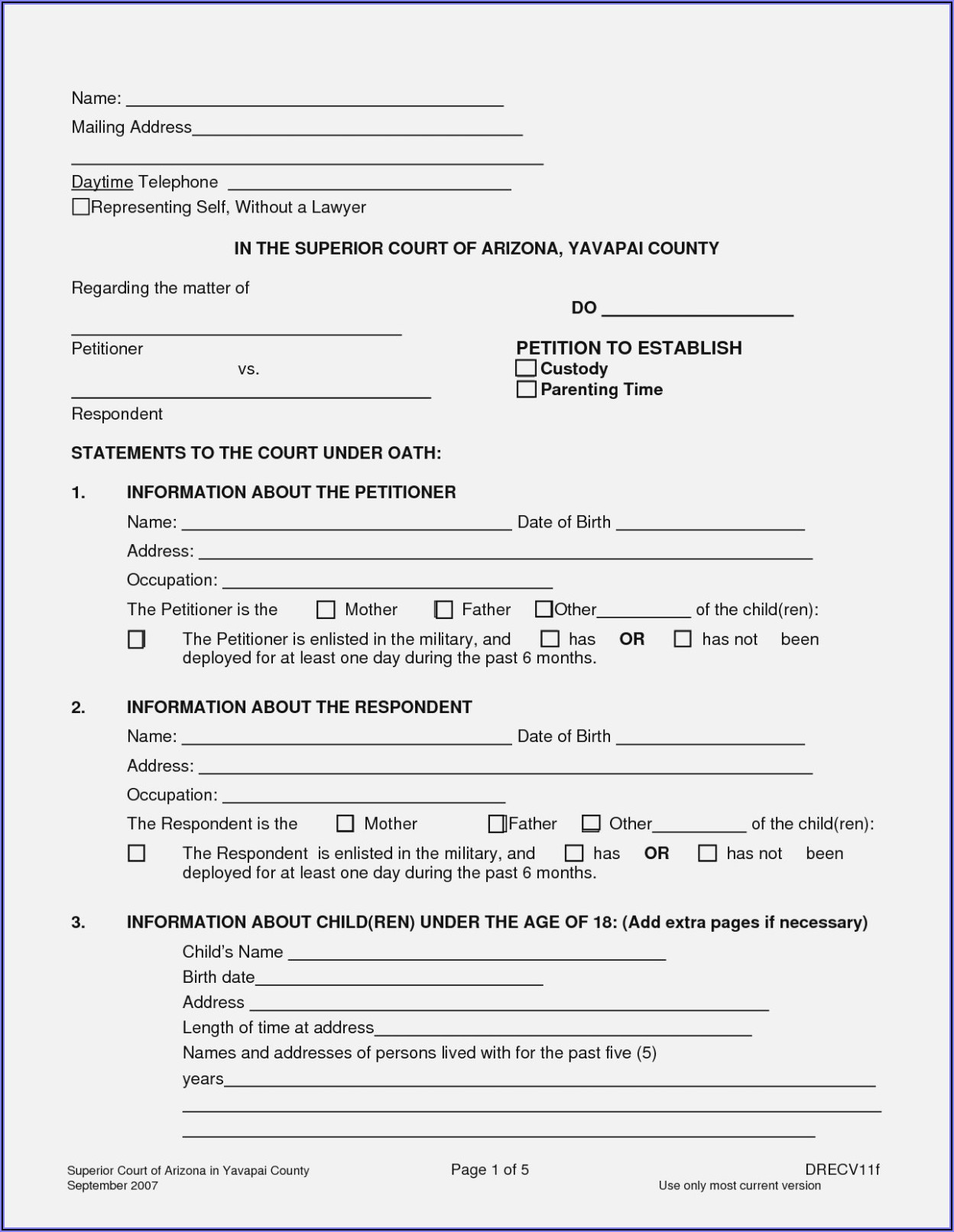 Free Legal Guardianship Forms For A Child In Florida