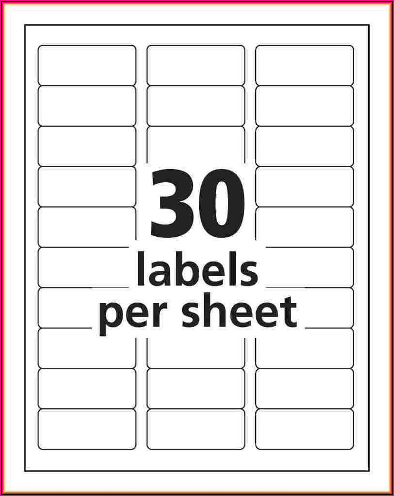 Free Mailing Label Templates 30 Per Sheet