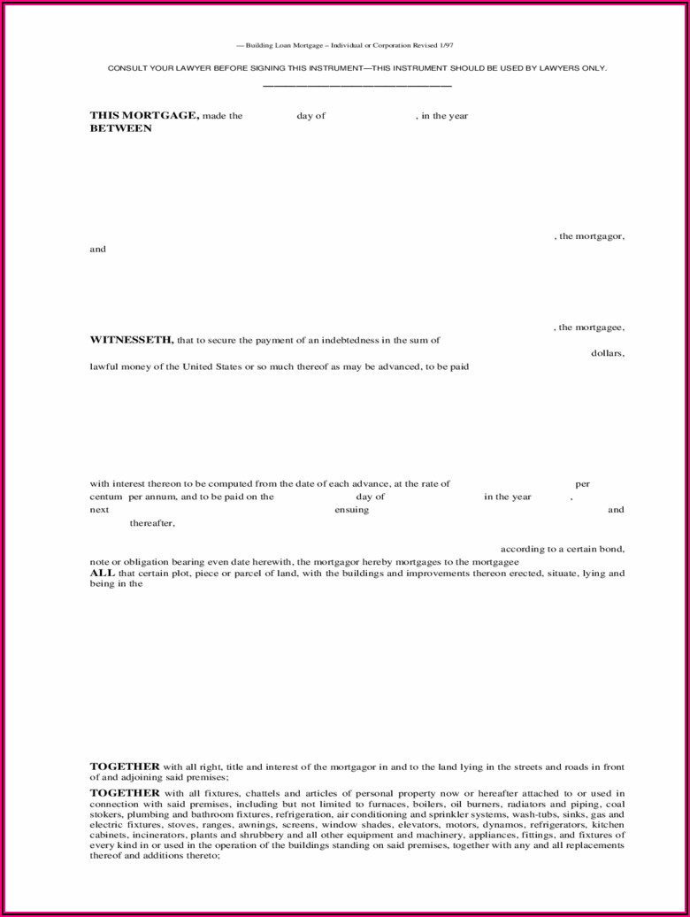 Free Mortgage Agreement Form