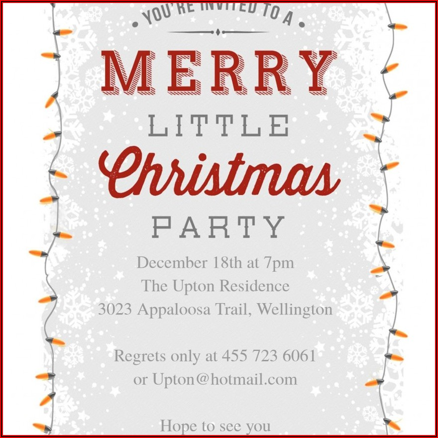 Free Online Christmas Invitation Maker