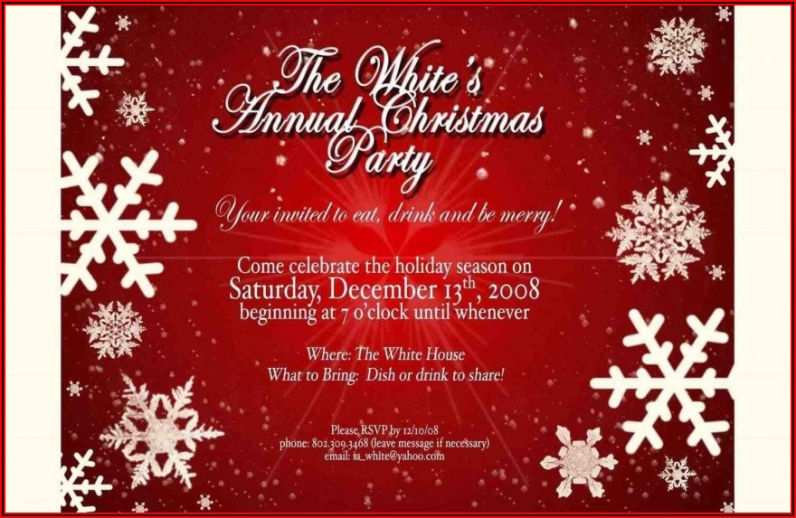 Free Online Christmas Invitation Templates
