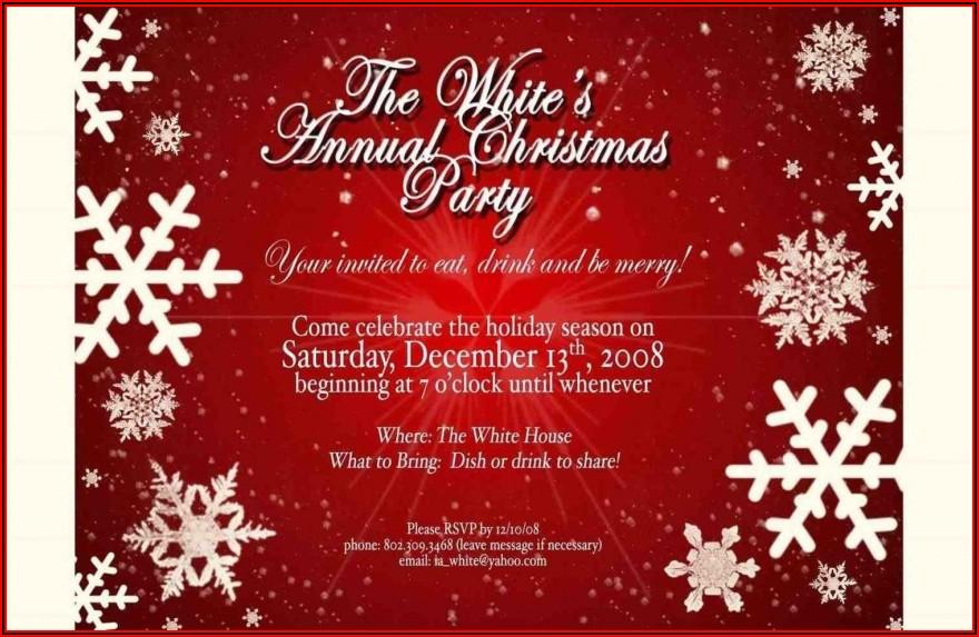 Free Online Christmas Invitation Templates