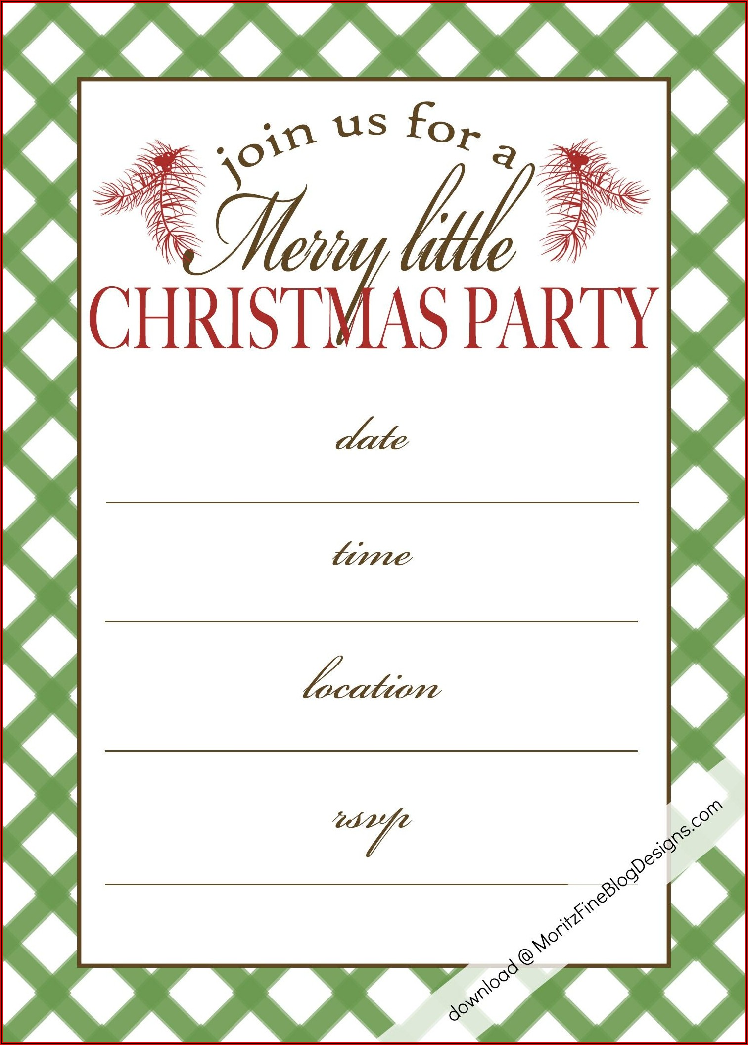 Free Online Christmas Invite Templates