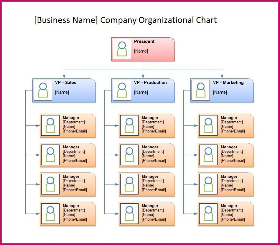 Free Organizational Chart Template Word 2019