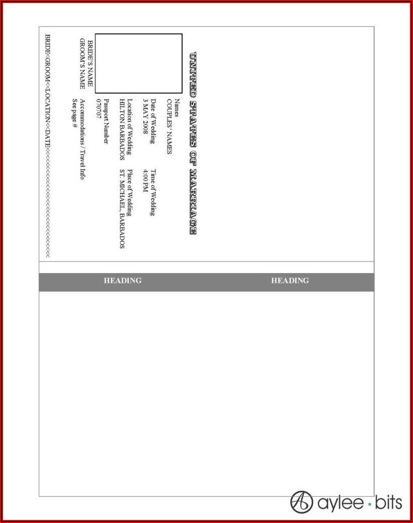 Free Passport Invitation Template