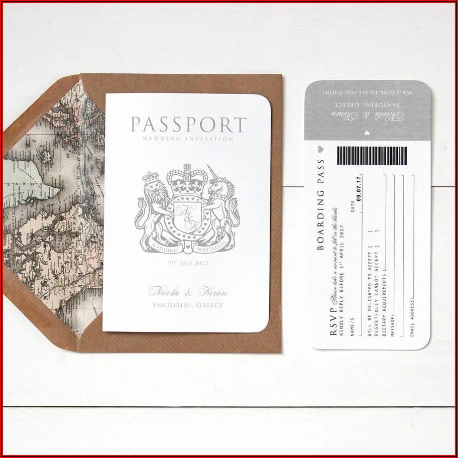 Free Passport Wedding Invitation Template